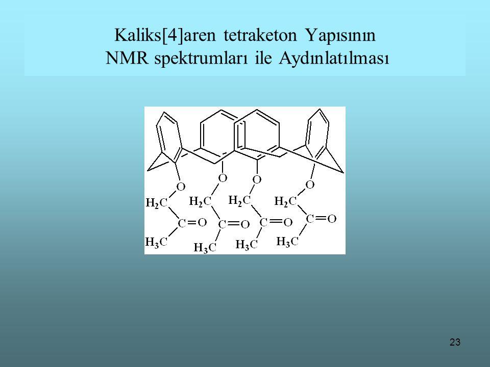 Kaliks[4]aren tetraketon Yapısının NMR spektrumları ile Aydınlatılması